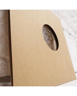 33T Kraft Cardboard Sleeve with Hole